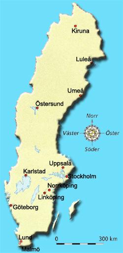 Sverigekarta Stader